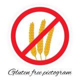 Gluten geben Piktogramm frei Lizenzfreies Stockbild