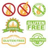Gluten geben Symbol frei Lizenzfreie Stockfotos