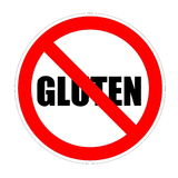 Gluten interdit Photos libres de droits