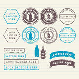 Gluten and Lactose free stamps set Royalty Free Stock Photo