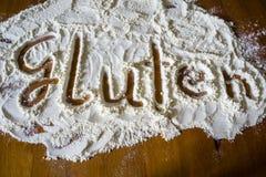 gluten mąki chrzcielnica piec zbliżenie obrazy royalty free