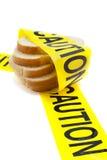 Gluten- und Weizenallergie-WARNING Stockfotografie