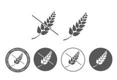 Gluten Uwalnia ikonę ilustracja wektor