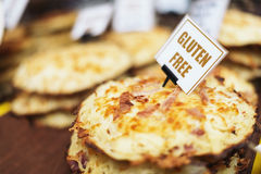 Gluten uwalnia jedzenie fotografia stock