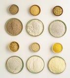 Gluten uwalnia mąki Fotografia Stock