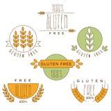Gluten Uwalnia, Naturalnego produktu etykietka Zdjęcie Royalty Free