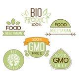 Gluten Uwalnia, Naturalnego produktu etykietka Obraz Stock