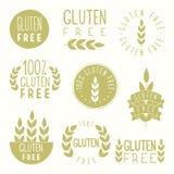 Gluten uwalnia odznaki ilustracji