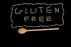 Gluten vrij met lepel stock foto