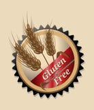 Gluten Vrij, rond embleem of pictogram Royalty-vrije Stock Afbeelding