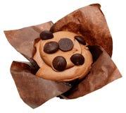 Gluten Vrije Chocolade Chip Cupcake stock afbeeldingen