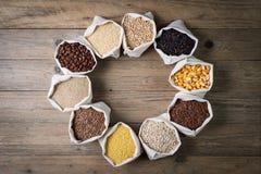 Gluten vrije graangewassen en zaden Royalty-vrije Stock Afbeelding