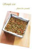 Gluten vrije granola Royalty-vrije Stock Foto