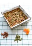 Gluten vrije granola Stock Afbeeldingen