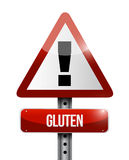 Gluten warning sign illustration design Stock Images