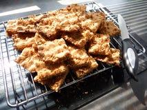 Gluten-/Weizen-freie Schokoladen-Knirschen-Kuchen Stockbild