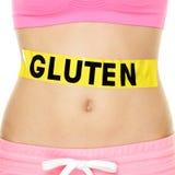Glutenallergie, gezondheid en het ziekteconcept Van de buikholte Royalty-vrije Stock Foto