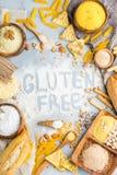 Glutenu bezpłatny jedzenie i mąka, migdał, kukurudza, ryż, chickpea obraz stock