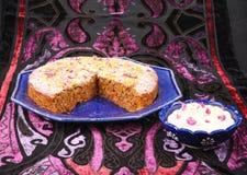 Glutenu bezpłatny marchwiany tort zdjęcie stock