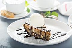 Glutenu bezpłatny tort z lody fotografia stock