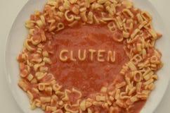 Glutenu makaronu jedzenia typografii nietolerancyjność zdjęcia stock