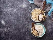 Glutenu owsa bezpłatna mąka fotografia stock