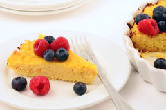 Glutenu Ricotta bezpłatny cheesecake Fotografia Royalty Free