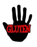 Glutine di Handprint Immagine Stock