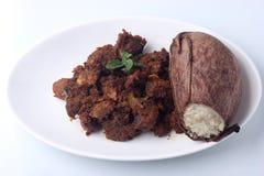 Glutinous рис сваренный в листьях завода кувшина Стоковые Фотографии RF