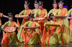 "Glutinous Rice Balls delicious-Dance drama ""The Dream of Maritime Silk Road"" Stock Images"