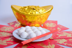 Glutinous rice balls. Traditional chinese glutinous rice balls Royalty Free Stock Photo