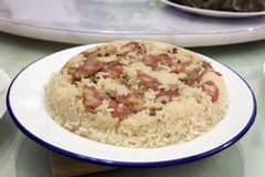 Glutinous Rice with Chinese Sausage and Chicken Royalty Free Stock Photo
