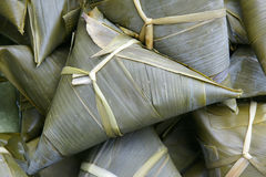 Glutinous rice dumpling. The close-up of glutinous rice dumpling. Glutinous rice dumpling is a traditional Chinese food, in China called zongzi. It is Stock Photography