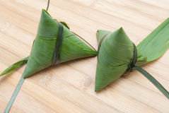 Glutinous rice dumpling. Zongzi, the Dragon Boat Festival is a traditional festival of the han Chinese food, cast by leaf package glutinous rice steamed into Stock Photo