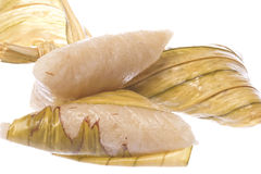 Glutinous Rice Dumpling Isolated. Isolated macro image of glutinous rice dumpling or commonly known as Ketupat Pulut in Malaysia Stock Images
