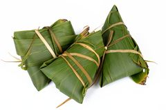 Glutinous rice, zongzi, traditional Chinese food stock images