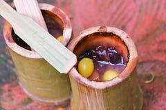 Glutinous ryż piec w bambusie & x28; Kao Lam& x29; Zdjęcie Stock