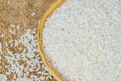 Glutinous ryż w bambusowym koszu Zdjęcie Royalty Free