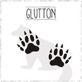 Glutton with trails. Royalty Free Stock Photo