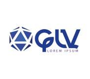 GLV Logo Design Royalty Free Stock Photo