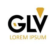 GLV Logo Design Royalty Free Stock Image