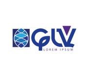 GLV Logo Design Royalty Free Stock Images