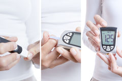 Glycemia collage Stock Photos