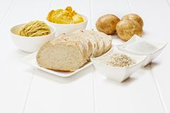 Glycemic Index. High GI Foods - some of the foods which are high in the stock images