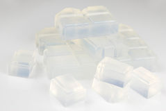 Glycerin soap base Stock Images