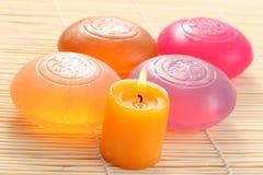 Glycerine soap Stock Images