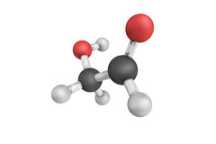Glycolaldehyde, the smallest possible molecule that contains bot Royalty Free Stock Photography