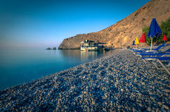 Glyka Nera beach, Crete Royalty Free Stock Photos