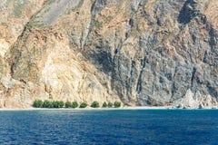 Glyka Nera beach meaning Sweet Water beach near Sfakia, Crete Greece. Glyka Nera beach meaning Sweet Water beach near Sfakia, Crete in Greece Stock Photo