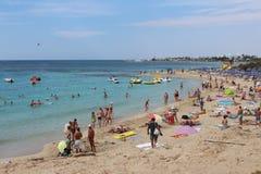 Glyki Nero Beach in Agia Napa, Cyprus. Royalty Free Stock Images
